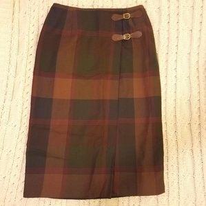 Plaid RALPH LAUREN Wrap Skirt